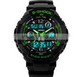 Outdoor Sport Water Resistant Automatic Digital LED Quartz Japan Movt Stainless Steel Back WatchElectronic Men's Fashion Watches