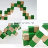 3d block puzzle diy wooden toy,maze ball game puzzle intelligent toy