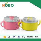 New!!Children tableware series food grade stainless steel colored tiffin lunch bowl