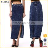 long blue jean skirts for women new design women jean skirt                                                                         Quality Choice