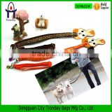 Dog traction belt running rope dog hauling cable with bell