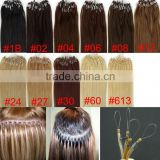 Wholesale! fashion extensions high quality Brazilian microBraziliam human hair mirco loop hair extension