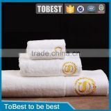 ToBest Hotel supplies wholesale hotel towel plain dyed elegant 100% cotton bath hotel towel