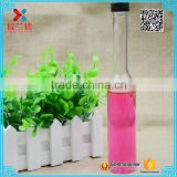 130ml newest long neck glass wine Beverage juice bottle with screw top lid                                                                                                         Supplier's Choice