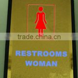toilet sign plate with adhesive back
