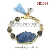fashion jewelry wholesale druzy stone bracelets charms bracelet for men chain jelwery gifts