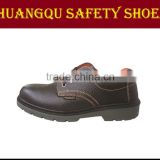 Split leather security work shoes PU/PU injection safety shoes mineral