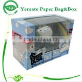 high quality decorative handmade corrugated cardboard paper doll packaging box with clear pvc window