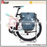 China Supplier OEM 500D PVC Tarpaulin Waterproof Transport Mountain Bike Bag Bicycle Pannier Bag