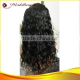 wholesale custom human hair wig 4x4 silk top 24'' two tone color Brazilian virgin hair lace front wig