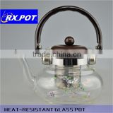 Heat-resistant brosilicate /glass water pot / glass kettle glass tea maker/ glass teapot / with s/s filter /s/s infuser 800A