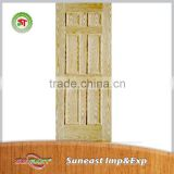 China factory carved wooden double window door models