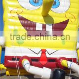 2015 high quality inflatable Spongebob Model, Giant Spongebob Toys, Yellow Cartoon Model