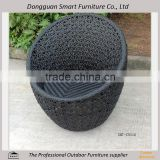 outdoor furniture sigle-seat metal egg rattan chair
