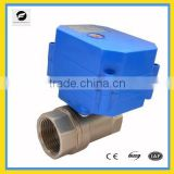 "2 way electric motor stainless steel 3/4"" ball valve for irrigation, water control system"