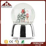 christmas figurines zinc silver metal base snow globe                                                                                                         Supplier's Choice