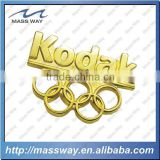 promotional stamped brass custom metal gold lapel pin