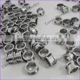 Popular With Stone High Polish Stainless Steel Ear Flesh Tunnel Plugs Jewelry [SS-F134B]