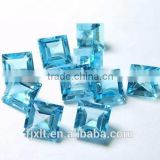 5*5mm square asscher cut blue topaz