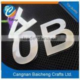 fancy decorative delicate car stickers made in China of english A B 0 shapes sold by Baicheng factory directly