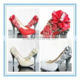 Latest Style Red High Heel Crystal Bridal Shoes(WS-5022)