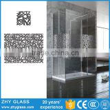 Decorative Tempered Interior Frosted Glass Bathroom Door