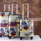PC+ABS Travel Trolley Suitcase Best Designer Luggage Sets With Nice Printing                                                                         Quality Choice