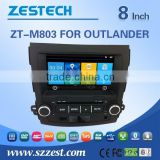 car dvd gps navigation system for mitsubishi OUTLANDER with Rear View Camera GPS BT TV Radio RDS