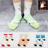 Literary tide autumn and winter socks new simple socks pencial book funny patterned socks new design socks