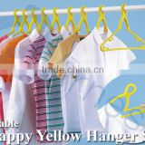 japanese household tools equipment plastic door laundry machine foldable longer neck hanger 10 pcs set 75161