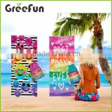 2016 summer style emoji beach towel bath towel plus size big large rectangle 3d print camping yoga pool towel with bag