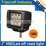 2015 hot sale! auto led lamps 18W LED WORK LIGHT for vehicles with life time high lumen