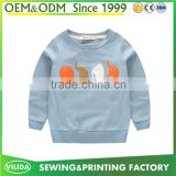 Hot Sale Kids Children printed Pullover hoodies Without Hood Sweatshirts