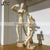 Educational DIY wooden manikin,lifelike 8' joint wooden manikin,interesting home decoration wooden manikin doll