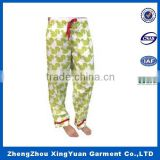 2016 new design hot sale children's Pajama Pant With 100% Cotton Flannel Printed Lounge Pants