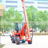 Diesel engine powered pile drilling machine, pile rigs with vibrotary hammer and rotary screw head for sale