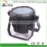 accept MOQ 54*3W 3IN1 full color ip65 outdoor par light led waterproof