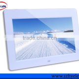wholesale bulk touch screen cheap Digital Photo Frame 10 inch with rechargeable battery