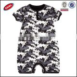stylish round neck short sleeve and allover printed baby romper knitting patterns baby clothes for boy