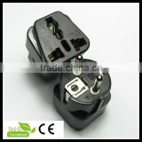 hot sale uk to schuko adapter plug french plug travel adaptor plug with socket