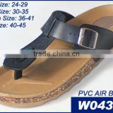 V Strap PCU Ladies Flat Slippers