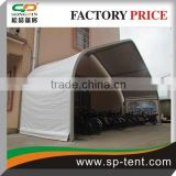 Span 20m big white curved car roof tent in aluminum frame for outdoor car storage and parking