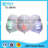 2015 New hotsale 3 led Color Blue/ Red/ Green Professional LED Facial Mask for Skin Care and Acne Treatment include power bank
