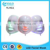 Yellow 590 Nm PDT Photon LED Facial Mask Skin Rejuvenation Wrinkle Removal Electric Device Anti-Aging Mask Therapy 3 Colors Beauty Machine Led Facial Light Therapy Machine