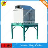 Animal Layer Broiler Poultry Chicken feed pellet cooling machine/pellet cooler machine/counter flow cooler