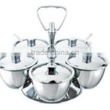 Kinox 18-10 stainless steel Luxe 5-bowl condiment server