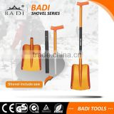multifunction hot sale aluminum head snow shovel with saw in the handle for camping and carden