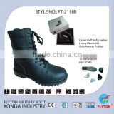 FLYTON genuine cow leather goodyear cheap black men's delta force army combat boots