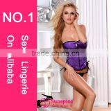 2015 plus size women corset top quality guarantee zipper closure lace up detail wholesale china corset