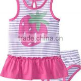 BABY GIRLS CLOTHING SET WITH CONTRAST RUFFLES